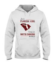 FLORIDA GIRL LIVING IN SOUTH CAROLINA WORLD Hooded Sweatshirt thumbnail