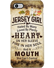 JERSEY GIRL A MOUTH SHE CAN'T CONTROL Phone Case i-phone-8-case