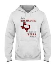 NEBRASKA GIRL LIVING IN TEXAS WORLD Hooded Sweatshirt thumbnail