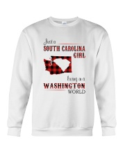 SOUTH CAROLINA GIRL LIVING IN WASHINGTON WORLD Crewneck Sweatshirt thumbnail