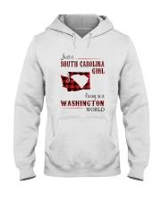 SOUTH CAROLINA GIRL LIVING IN WASHINGTON WORLD Hooded Sweatshirt thumbnail