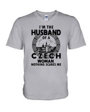 I'M THE HUSBAND OF A CZECH WOMAN V-Neck T-Shirt thumbnail