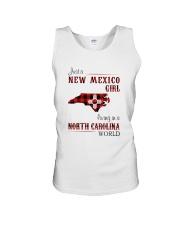 NEW MEXICO GIRL LIVING IN NORTH CAROLINA WORLD Unisex Tank thumbnail