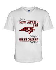 NEW MEXICO GIRL LIVING IN NORTH CAROLINA WORLD V-Neck T-Shirt thumbnail