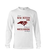 NEW MEXICO GIRL LIVING IN NORTH CAROLINA WORLD Long Sleeve Tee thumbnail