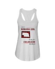 NEBRASKA GIRL LIVING IN COLORADO WORLD Ladies Flowy Tank thumbnail