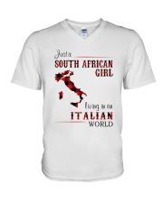 SOUTH AFRICAN GIRL LIVING IN ITALIAN WORLD V-Neck T-Shirt thumbnail