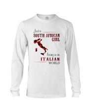 SOUTH AFRICAN GIRL LIVING IN ITALIAN WORLD Long Sleeve Tee thumbnail