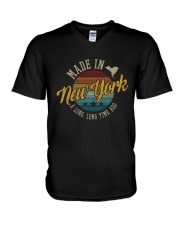 MADE IN NEW YORK A LONG TIME AGO VINTAGE V-Neck T-Shirt thumbnail