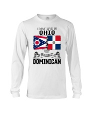 LIVE IN OHIO BEGAN IN DOMINICAN ROOT WOMEN Long Sleeve Tee thumbnail