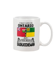 LIVE IN ONTARIO BEGAN IN SASKATCHEWAN ROOT WOMEN Mug thumbnail
