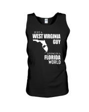 JUST A WV GUY LIVING IN FLORIDA WORLD Unisex Tank thumbnail
