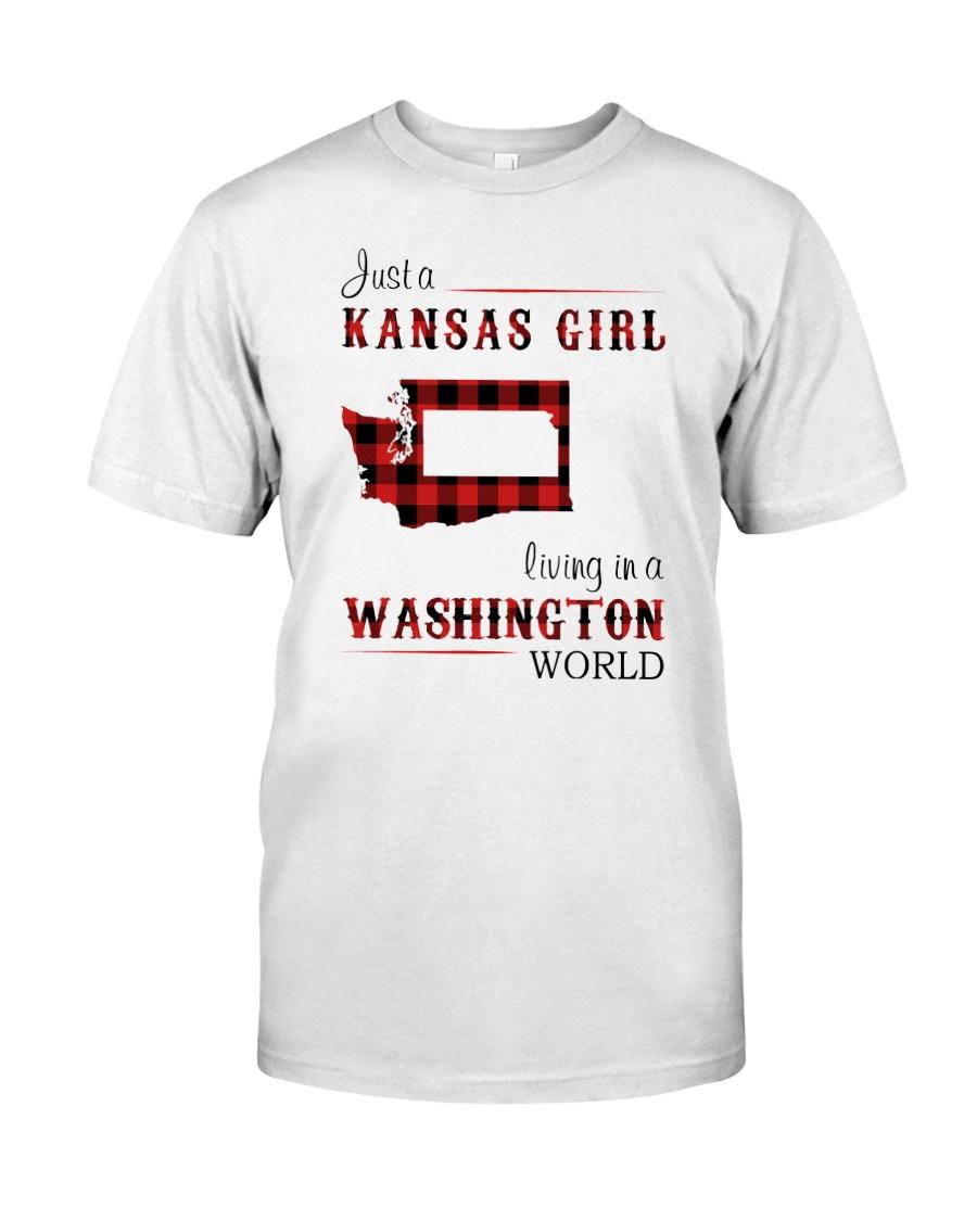 KANSAS GIRL LIVING IN WASHINGTON WORLD Classic T-Shirt