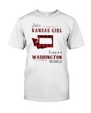 KANSAS GIRL LIVING IN WASHINGTON WORLD Classic T-Shirt front