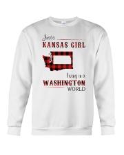 KANSAS GIRL LIVING IN WASHINGTON WORLD Crewneck Sweatshirt thumbnail