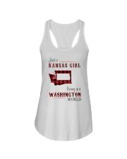 KANSAS GIRL LIVING IN WASHINGTON WORLD Ladies Flowy Tank thumbnail