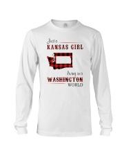 KANSAS GIRL LIVING IN WASHINGTON WORLD Long Sleeve Tee thumbnail