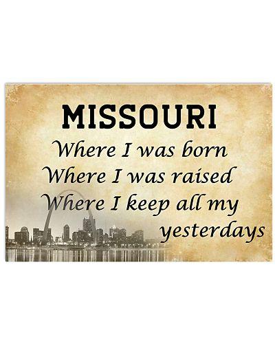 MISSOURI WHERE I KEEP ALL MY YESTERDAYS