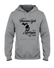 JUST A TENNESSEE GIRL IN A MICHIGAN WORLD Hooded Sweatshirt thumbnail