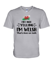 I'M NOT YELLING I'M WELSH V-Neck T-Shirt tile