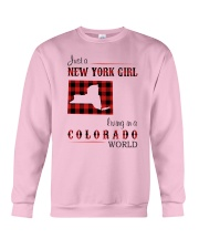 NEW YORK GIRL LIVING IN COLORADO WORLD Crewneck Sweatshirt thumbnail