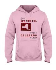 NEW YORK GIRL LIVING IN COLORADO WORLD Hooded Sweatshirt thumbnail