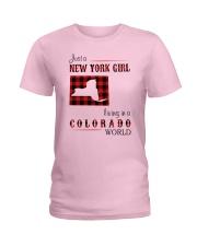 NEW YORK GIRL LIVING IN COLORADO WORLD Ladies T-Shirt thumbnail