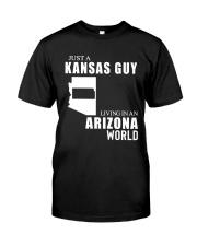 JUST A KANSAS GUY LIVING IN ARIZONA WORLD Classic T-Shirt tile