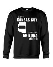 JUST A KANSAS GUY LIVING IN ARIZONA WORLD Crewneck Sweatshirt thumbnail