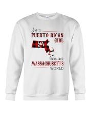 PUERTO RICAN GIRL LIVING IN MASSACHUSETTS WORLD Crewneck Sweatshirt thumbnail