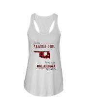 ALASKA GIRL LIVING IN OKLAHOMA WORLD Ladies Flowy Tank thumbnail