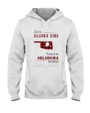ALASKA GIRL LIVING IN OKLAHOMA WORLD Hooded Sweatshirt thumbnail