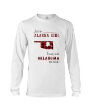 ALASKA GIRL LIVING IN OKLAHOMA WORLD Long Sleeve Tee thumbnail