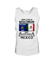 LIVE IN WISCONSIN BEGAN IN MEXICO Unisex Tank thumbnail