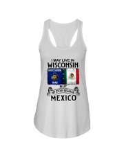 LIVE IN WISCONSIN BEGAN IN MEXICO Ladies Flowy Tank thumbnail