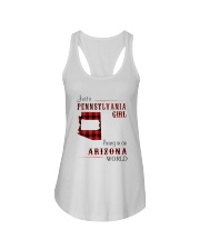 PENNSYLVANIA GIRL LIVING IN ARIZONA WORLD Ladies Flowy Tank thumbnail
