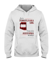 PENNSYLVANIA GIRL LIVING IN ARIZONA WORLD Hooded Sweatshirt tile