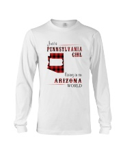 PENNSYLVANIA GIRL LIVING IN ARIZONA WORLD Long Sleeve Tee tile