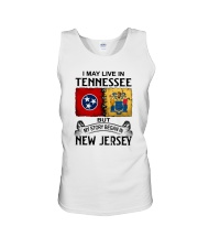 LIVE IN TENNESSEE BEGAN IN NEW JERSEY Unisex Tank thumbnail