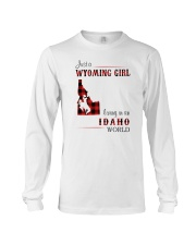 WYOMING GIRL LIVING IN IDAHO WORLD Long Sleeve Tee thumbnail