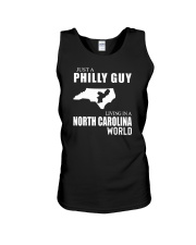 JUST A PHILLY GUY LIVING IN NC WORLD Unisex Tank thumbnail