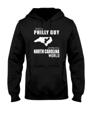 JUST A PHILLY GUY LIVING IN NC WORLD Hooded Sweatshirt thumbnail