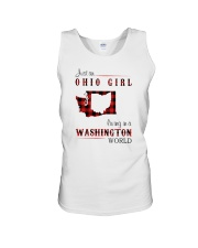 OHIO GIRL LIVING IN WASHINGTON WORLD Unisex Tank thumbnail