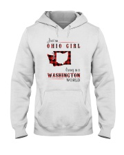 OHIO GIRL LIVING IN WASHINGTON WORLD Hooded Sweatshirt tile