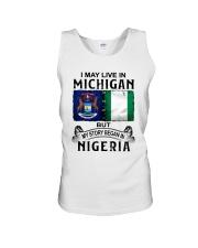 LIVE IN MICHIGAN BEGAN IN NIGERIA Unisex Tank thumbnail
