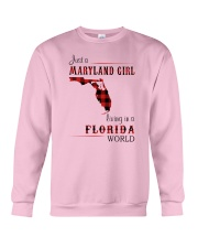 MARYLAND GIRL LIVING IN FLORIDA WORLD Crewneck Sweatshirt thumbnail