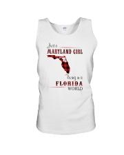 MARYLAND GIRL LIVING IN FLORIDA WORLD Unisex Tank thumbnail