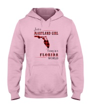 MARYLAND GIRL LIVING IN FLORIDA WORLD Hooded Sweatshirt thumbnail