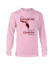 MARYLAND GIRL LIVING IN FLORIDA WORLD Long Sleeve Tee thumbnail