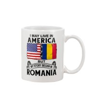 LIVE IN AMERICA BEGAN IN ROMANIA ROOT WOMEN Mug thumbnail